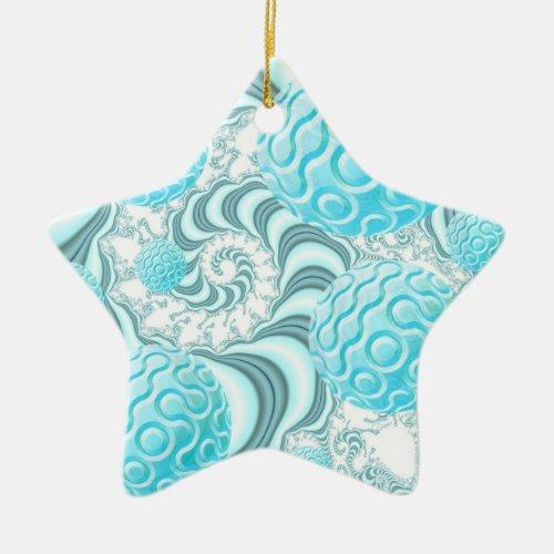 Heavenly Sea Shells, Abstract Pastel Beach Ceramic Ornament