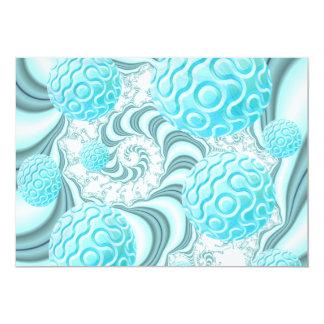 "Heavenly Sea Shells, Abstract Pastel Beach 5"" X 7"" Invitation Card"
