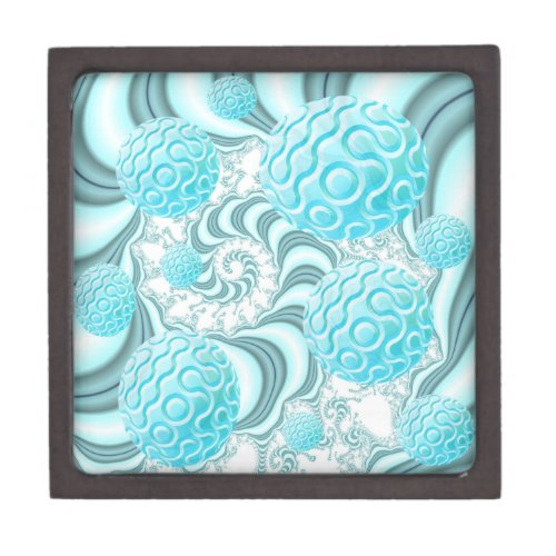 Heavenly Sea Shells, Abstract Pastel Beach Jewelry Box