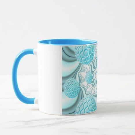 Heavenly Sea Shells, Abstract Pastel Beach Mug