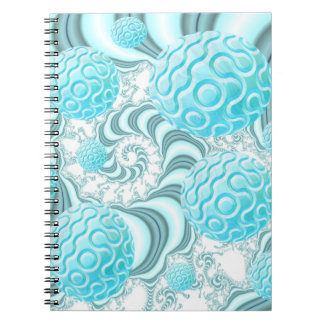 Heavenly Sea Shells, Abstract Pastel Beach Spiral Notebook