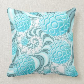 Heavenly Sea Shells, Abstract Pastel Beach Pillow