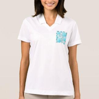 Heavenly Sea Shells, Abstract Pastel Beach Polo Shirt