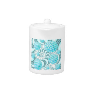 Heavenly Sea Shells, Abstract Pastel Beach Tea Pot