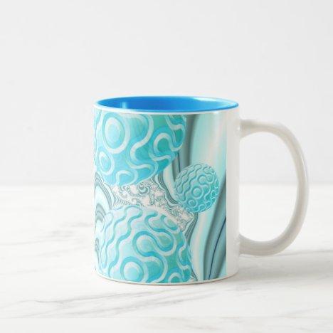 Heavenly Sea Shells, Abstract Pastel Beach Two-Tone Coffee Mug
