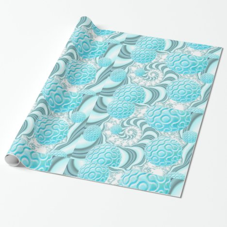 Heavenly Sea Shells, Abstract Pastel Beach Wrapping Paper