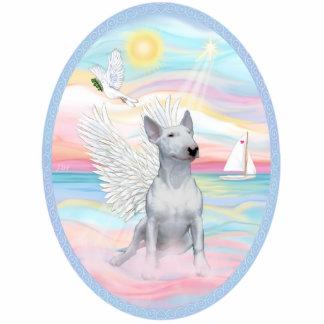 Heavenly Sea - White Bull Terrier 1 Standing Photo Sculpture
