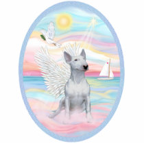 Heavenly Sea - White Bull Terrier 1 Statuette