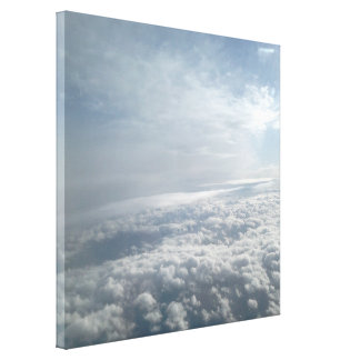 Heavenly Sky, Plane View Beautiful Clouds Canvas