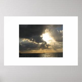 Heavenly Sky (San Pedro, Belize) Poster