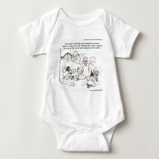 Heavenly Social Media Funny Baby Bodysuit