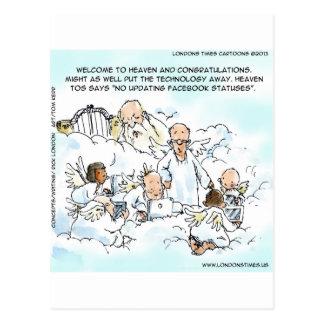Heavenly Social Media Funny Postcard