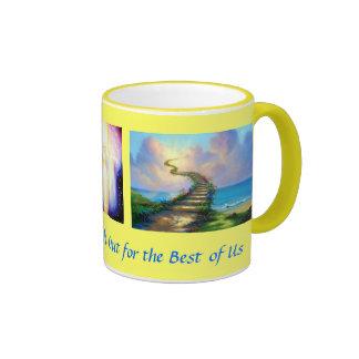 Heavenly Stairway Ringer Coffee Mug