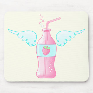 Heavenly Strawberry Soda Mouse Pad