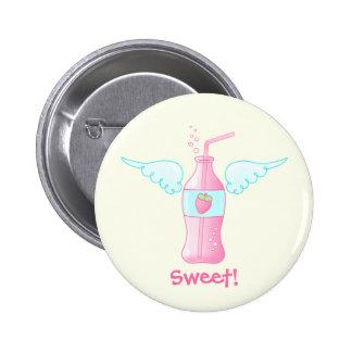 Heavenly Strawberry Soda Pinback Button
