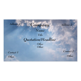Heavenly Sunny Sky Double-Sided Standard Business Cards (Pack Of 100)