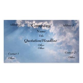 Heavenly Sunny Sky Business Card