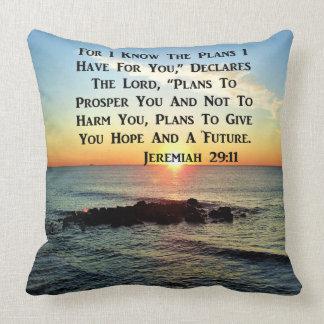 HEAVENLY SUNRISE JEREMIAH 20:11 VERSE THROW PILLOW