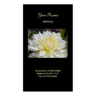 Heavenly White Dahlia Business Cards