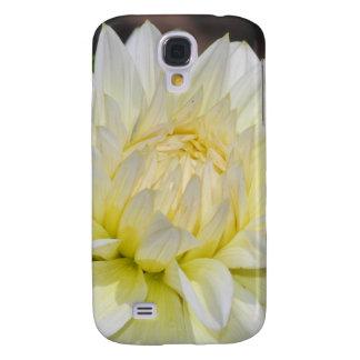 Heavenly White Dahlia Galaxy S4 Case