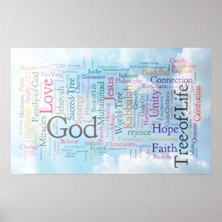 Heavenly Word Cloud Poster