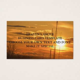 HEAVEN'S ABOVE BUSINESS CARD TEMPLATE
