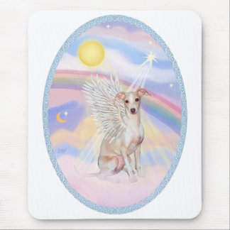 Heaven's Clouds - Whippet Angel Mouse Pad
