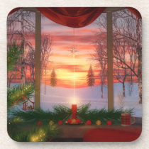 Heaven's Dayspring Christmas Cork Coasters
