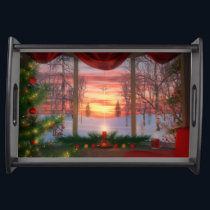 Heaven's Dayspring Christmas Serving Tray