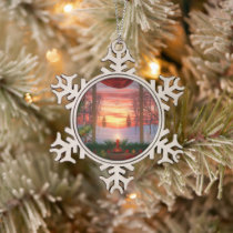 Heaven's Dayspring Christmas Snowflake Ornament