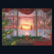 Heaven's Dayspring Christmas Tablecloth