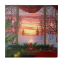 Heaven's Dayspring Christmas Tile / Trivet