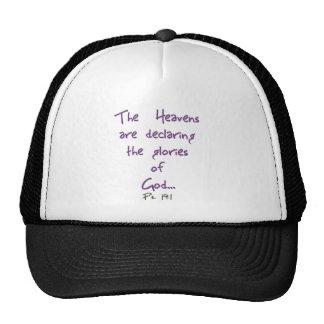 Heavens Declare Glory of God Hats