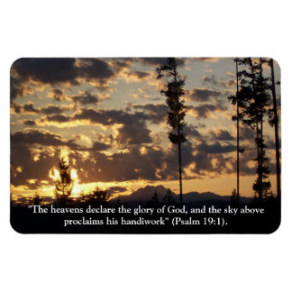 Heavens Declare the Glory of God Photo Magnet