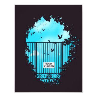 """Heaven's door 4.25"""" x 5.5"""" invitation card"""