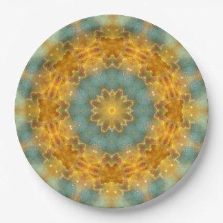 Heavens Flower Mandala Paper Plate