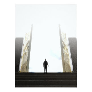 Heavens Gates And Silhouette Card