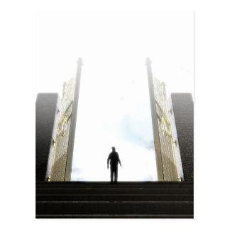 Heavens Gates And Silhouette Postcard