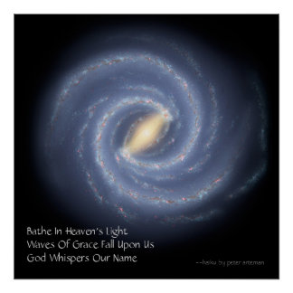 Heaven's Light Modern Haiku Poster
