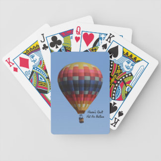 Heaven's Quilt Hot Air Balloon Playing Cards