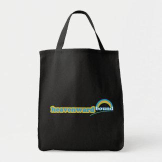 Heavenward Bound retro Christian cloth tote bag