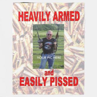 HEAVILY ARMED and EASILY PISSEDFleece Blanket