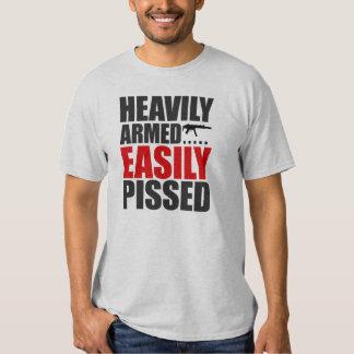 Heavily Armed Easily Pissed T-Shirt