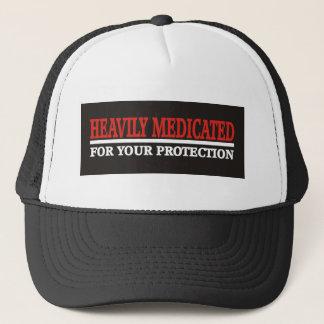 Heavily Medicated black Trucker Hat