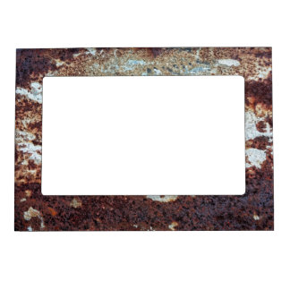Heavily Rusted Metal Pattern Magnetic Photo Frame