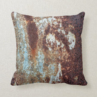 Heavily Rusted Metal Pattern Throw Pillow