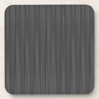 Heavy Black Pin Stripes Drink Coaster
