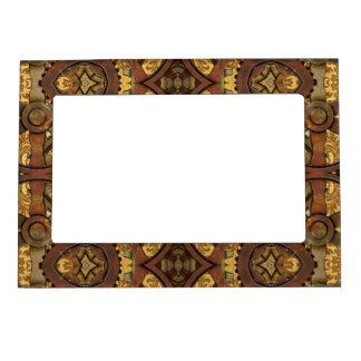 Heavy Brass and Copper Steampunk Design Magnetic Photo Frame