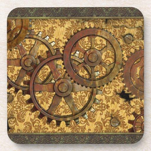 Heavy Brass Steampunk Cork Coasters