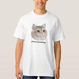 Heavy Breathing Cat T Shirts